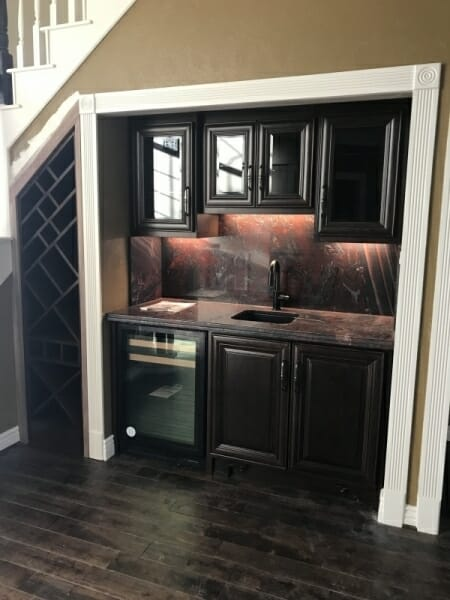 Custom Built In Cabinets Wet Bar