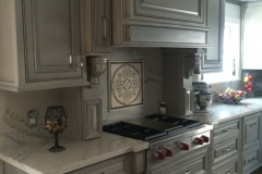 Custom designed solid wood kitchen cabinets
