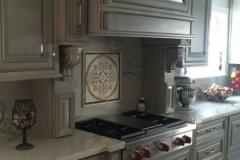 White granite kitchen counter tops