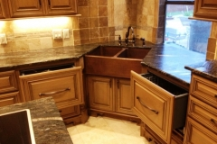 Solid wood cabinets custom designed.