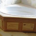 hardwood bathroom cabinets